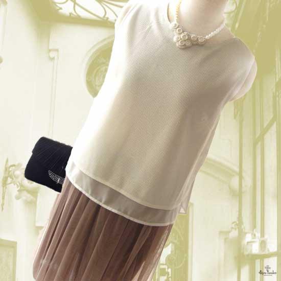 結婚式パール ビジューネックレス ボリューム ビーズ 刺繍ネックレス お呼ばれ - 白い貴婦人の雅