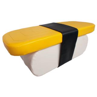 座って楽しい寿司クッション(タマゴ)<br>D900×W360×H320