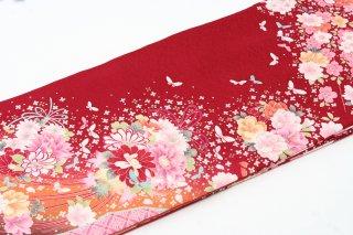 レンタル 振袖 ピンクの小花 蝶