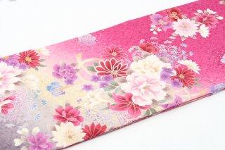 レンタル 振袖 ピンク 白・紫の花