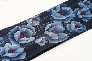レンタル 振袖 紺 大きな花