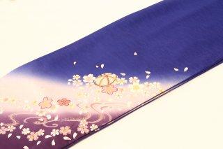 レンタル 振袖 ブルー 白い桜