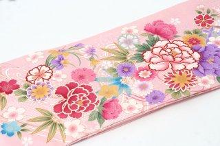 レンタル 振袖 薄いピンク 紫牡丹