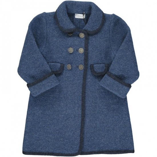 <img class='new_mark_img1' src='https://img.shop-pro.jp/img/new/icons14.gif' style='border:none;display:inline;margin:0px;padding:0px;width:auto;' />Amaia Kids - Razorbil coat - Blue アマイアキッズ - ウールコート