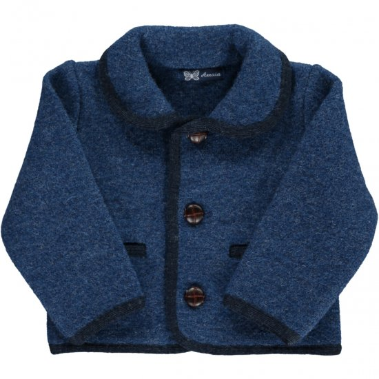 <img class='new_mark_img1' src='https://img.shop-pro.jp/img/new/icons58.gif' style='border:none;display:inline;margin:0px;padding:0px;width:auto;' />Amaia Kids - Redwink Jacket - Blue アマイアキッズ - ウールジャケット