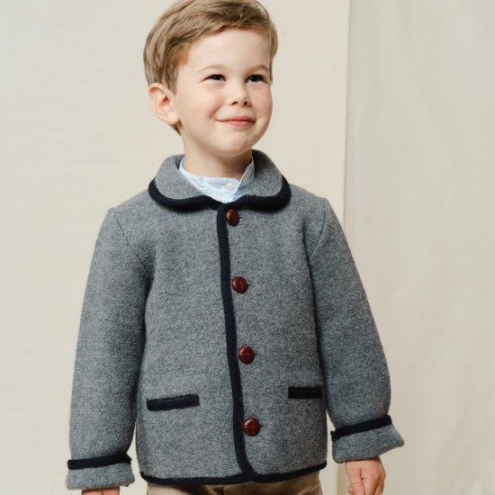 <img class='new_mark_img1' src='https://img.shop-pro.jp/img/new/icons14.gif' style='border:none;display:inline;margin:0px;padding:0px;width:auto;' />Amaia Kids - Redwink jacket - Grey アマイアキッズ - ウールジャケット