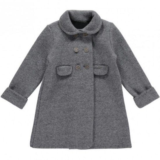<img class='new_mark_img1' src='https://img.shop-pro.jp/img/new/icons14.gif' style='border:none;display:inline;margin:0px;padding:0px;width:auto;' />Amaia Kids - Razorbil coat - Grey アマイアキッズ - ウールコート