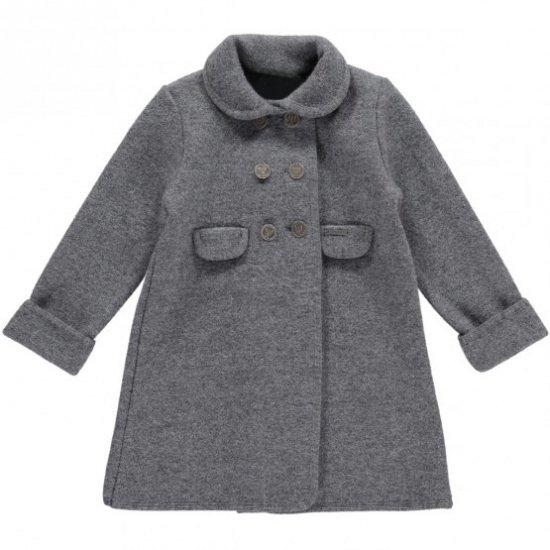 Amaia Kids - Razorbil coat - Grey アマイアキッズ - ウールコート