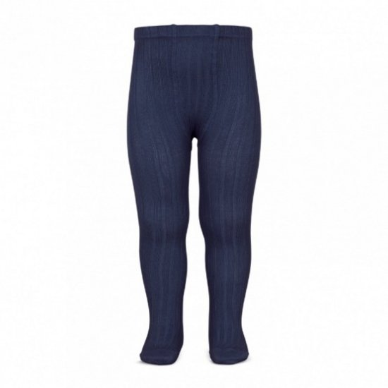 <img class='new_mark_img1' src='https://img.shop-pro.jp/img/new/icons58.gif' style='border:none;display:inline;margin:0px;padding:0px;width:auto;' />Amaia Kids - Ribbed tights - Navy アマイアキッズ - タイツ