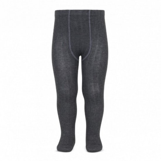 Amaia Kids - Ribbed tights - Dark Grey アマイアキッズ - タイツ