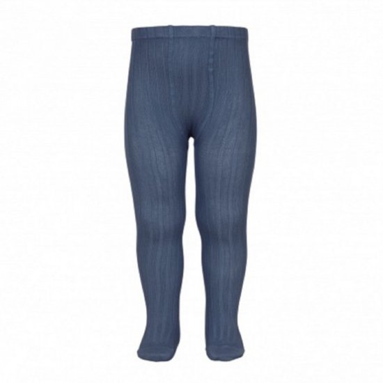 Amaia Kids - Ribbed tights - Cobalt アマイアキッズ - タイツ