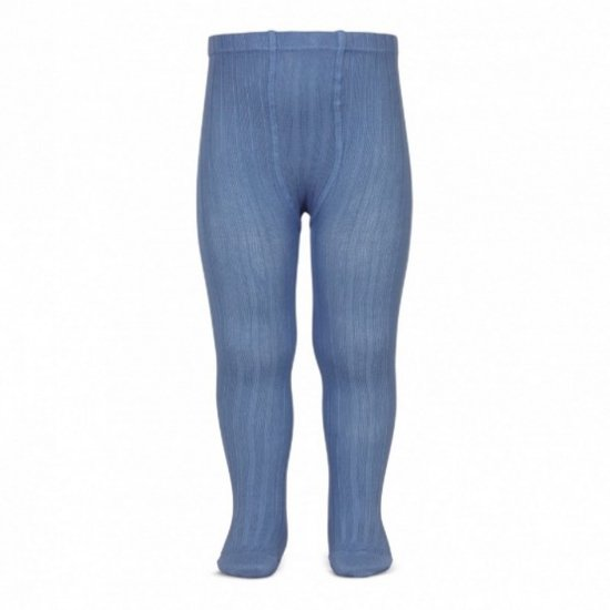 Amaia Kids - Ribbed tights - Blue france