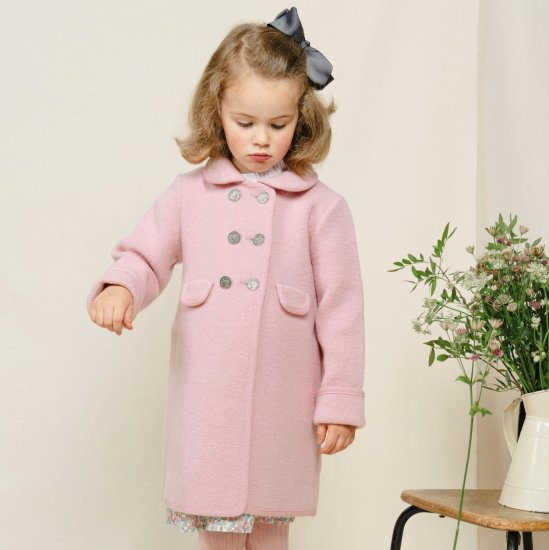 <img class='new_mark_img1' src='https://img.shop-pro.jp/img/new/icons58.gif' style='border:none;display:inline;margin:0px;padding:0px;width:auto;' />Amaia Kids - Razorbil coat - Pink アマイアキッズ - ウールコート