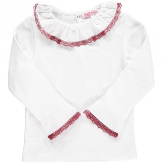 <img class='new_mark_img1' src='https://img.shop-pro.jp/img/new/icons14.gif' style='border:none;display:inline;margin:0px;padding:0px;width:auto;' />Amaia Kids - Chelsea Top longsleeve - Burgundy アマイアキッズ - 長袖トップス・ボディースーツ