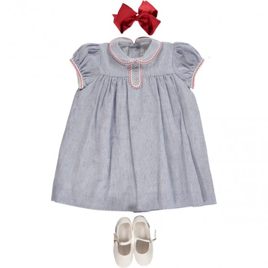 Amaia Kids - Louise dress - Blue アマイアキッズ - ワンピース