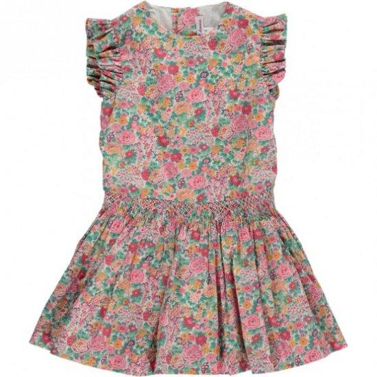 Amaia Kids - Victoria dress アマイアキッズ - スモッキング刺繍リバティプリントワンピース