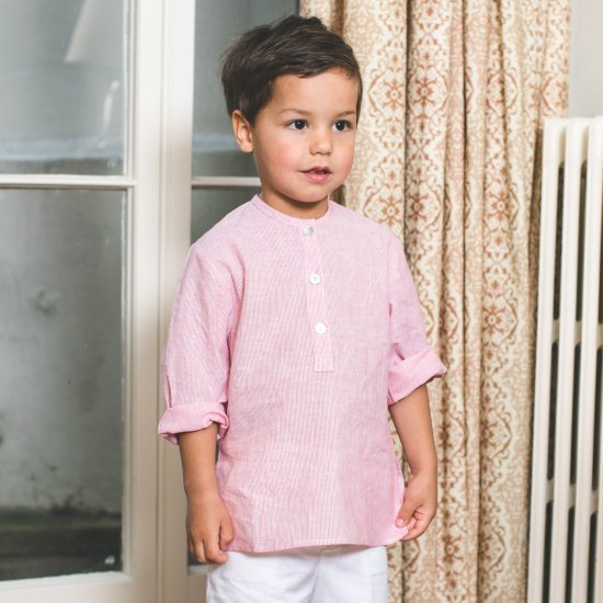 <img class='new_mark_img1' src='//img.shop-pro.jp/img/new/icons14.gif' style='border:none;display:inline;margin:0px;padding:0px;width:auto;' />Amaia Kids - Victor shirt - red
