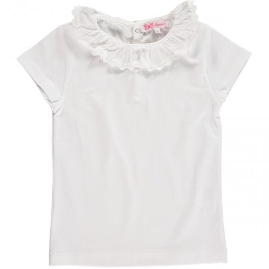 <img class='new_mark_img1' src='https://img.shop-pro.jp/img/new/icons14.gif' style='border:none;display:inline;margin:0px;padding:0px;width:auto;' />Amaia Kids - Chelsea Top short sleeve - White アマイアキッズ - 半袖トップス・ボディースーツ