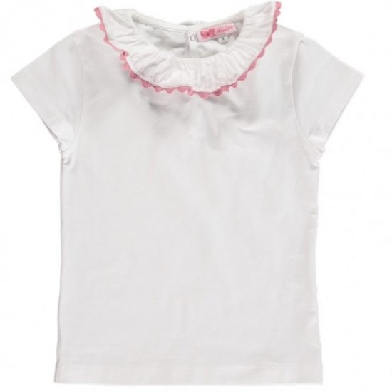 <img class='new_mark_img1' src='https://img.shop-pro.jp/img/new/icons14.gif' style='border:none;display:inline;margin:0px;padding:0px;width:auto;' />Amaia Kids - Chelsea Top short sleeve - Pink アマイアキッズ - 半袖トップス・ボディースーツ