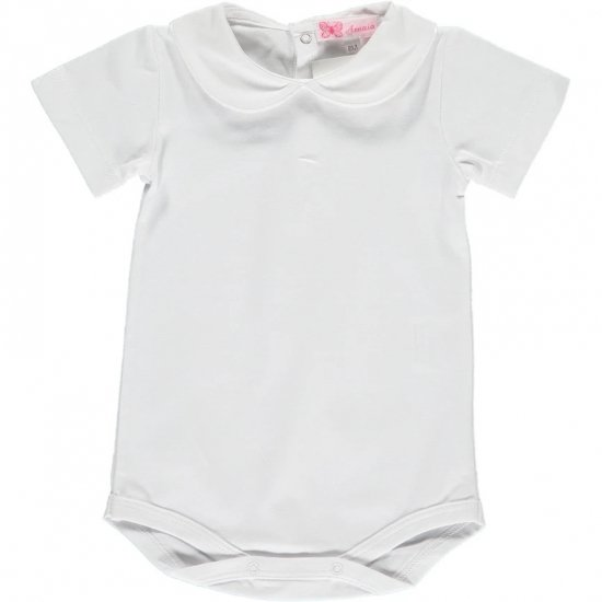<img class='new_mark_img1' src='https://img.shop-pro.jp/img/new/icons20.gif' style='border:none;display:inline;margin:0px;padding:0px;width:auto;' />【15%OFF】Amaia Kids - Mayfair shortsleeve - White アマイアキッズ - 半袖トップス