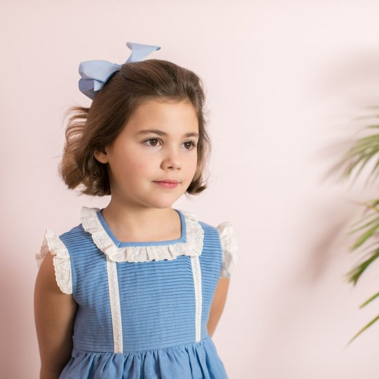 <img class='new_mark_img1' src='https://img.shop-pro.jp/img/new/icons20.gif' style='border:none;display:inline;margin:0px;padding:0px;width:auto;' />50%OFF★Amaia Kids - Bella dress - blue アマイアキッズ - フリルドレス