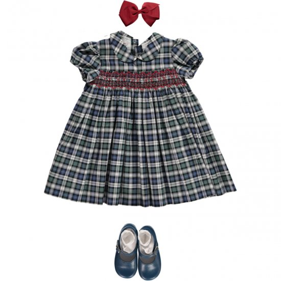 <img class='new_mark_img1' src='//img.shop-pro.jp/img/new/icons14.gif' style='border:none;display:inline;margin:0px;padding:0px;width:auto;' />Amaia Kids - Shirley dress - tartan
