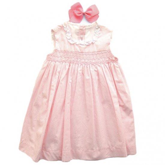 Amaia Kids - Eugenie pink dress アマイアキッズ - スモッキング刺繍ワンピース