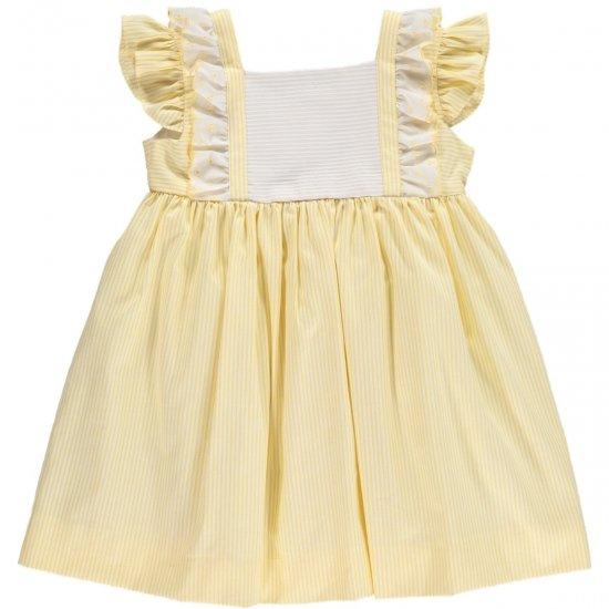 Amaia Kids - Sonia dress -yellow アマイアキッズ - フリルワンピース