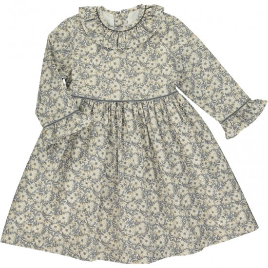 <img class='new_mark_img1' src='https://img.shop-pro.jp/img/new/icons14.gif' style='border:none;display:inline;margin:0px;padding:0px;width:auto;' />Amaia Kids - Myriam dress - Liberty grey アマイアキッズ - リバティプリントワンピース