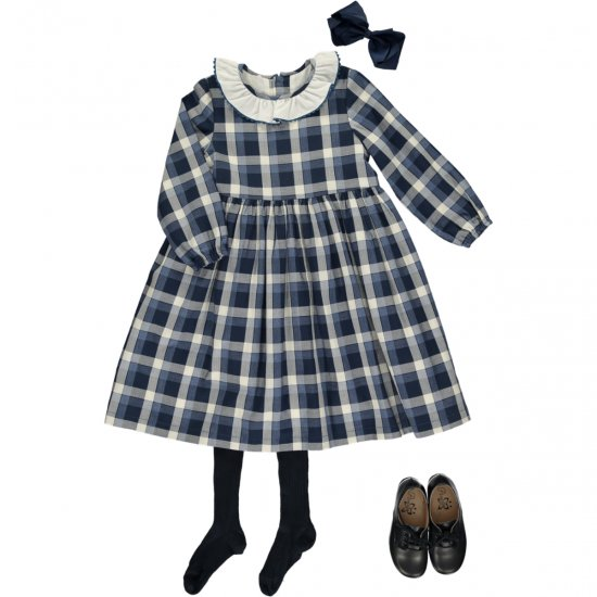<img class='new_mark_img1' src='https://img.shop-pro.jp/img/new/icons14.gif' style='border:none;display:inline;margin:0px;padding:0px;width:auto;' />Amaia Kids - Lou dress - アマイアキッズ - チェックワンピース