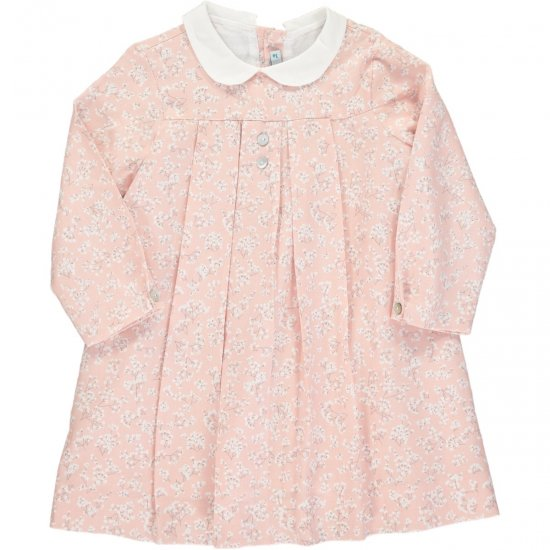 <img class='new_mark_img1' src='https://img.shop-pro.jp/img/new/icons14.gif' style='border:none;display:inline;margin:0px;padding:0px;width:auto;' />Amaia Kids - Pilar dress - Pink アマイアキッズ - 花柄ワンピース