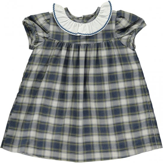<img class='new_mark_img1' src='https://img.shop-pro.jp/img/new/icons58.gif' style='border:none;display:inline;margin:0px;padding:0px;width:auto;' />Amaia Kids - Ruby dress - Tartan アマイアキッズ - タータンチェックワンピース