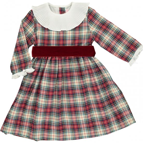 <img class='new_mark_img1' src='https://img.shop-pro.jp/img/new/icons20.gif' style='border:none;display:inline;margin:0px;padding:0px;width:auto;' />【40%OFF】Amaia Kids - Pompadour dress - アマイアキッズ - タータンチェックワンピース