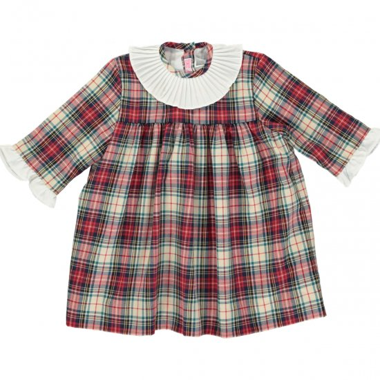 <img class='new_mark_img1' src='https://img.shop-pro.jp/img/new/icons14.gif' style='border:none;display:inline;margin:0px;padding:0px;width:auto;' />Amaia Kids - Andrea dress - アマイアキッズ - タータンチェックワンピース