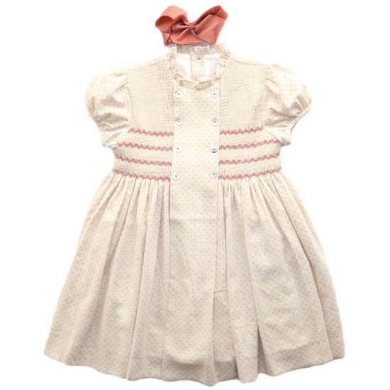 <img class='new_mark_img1' src='https://img.shop-pro.jp/img/new/icons14.gif' style='border:none;display:inline;margin:0px;padding:0px;width:auto;' />Amaia Kids - Serena dress - アマイアキッズ - スモッキング刺繍ワンピース