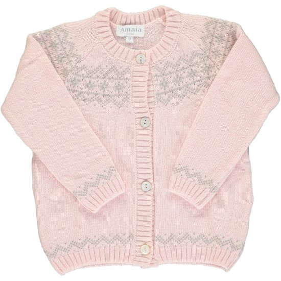 <img class='new_mark_img1' src='https://img.shop-pro.jp/img/new/icons14.gif' style='border:none;display:inline;margin:0px;padding:0px;width:auto;' />Amaia Kids - Persnip cardigan - Pink アマイアキッズ - カーディガン