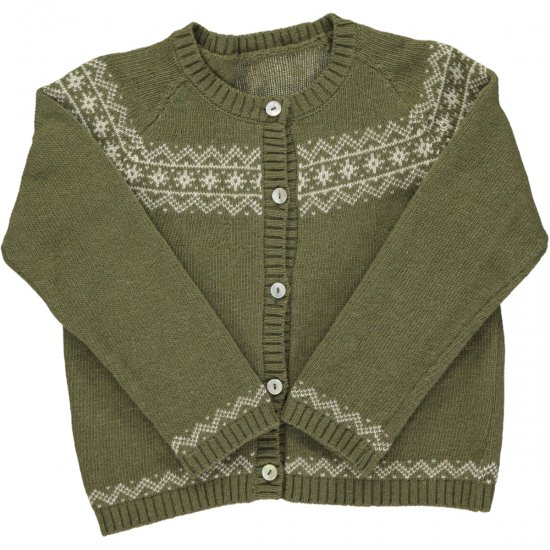 <img class='new_mark_img1' src='https://img.shop-pro.jp/img/new/icons14.gif' style='border:none;display:inline;margin:0px;padding:0px;width:auto;' />Amaia Kids - Persnip cardigan - Green アマイアキッズ - カーディガン