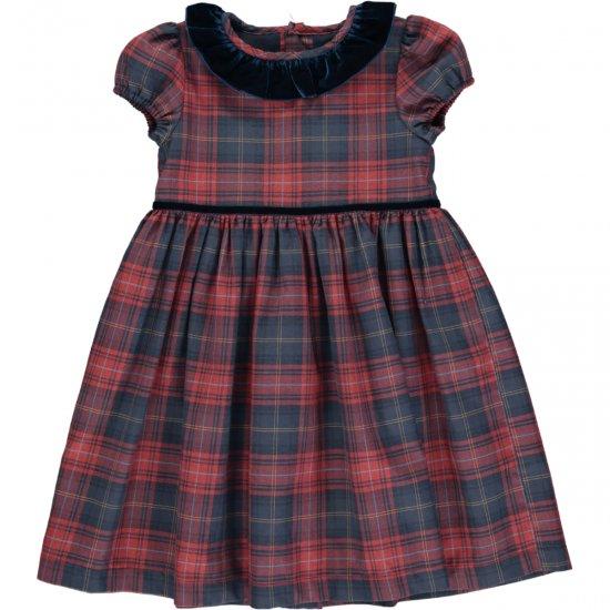 <img class='new_mark_img1' src='https://img.shop-pro.jp/img/new/icons14.gif' style='border:none;display:inline;margin:0px;padding:0px;width:auto;' />Amaia Kids - Raisin dress - アマイアキッズ - タータンチェックワンピース