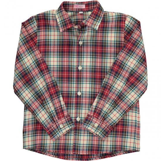 <img class='new_mark_img1' src='https://img.shop-pro.jp/img/new/icons14.gif' style='border:none;display:inline;margin:0px;padding:0px;width:auto;' />Amaia Kids - Chickadee shirt longsleeve- Tartan アマイアキッズ - タータンチェック長袖シャツ