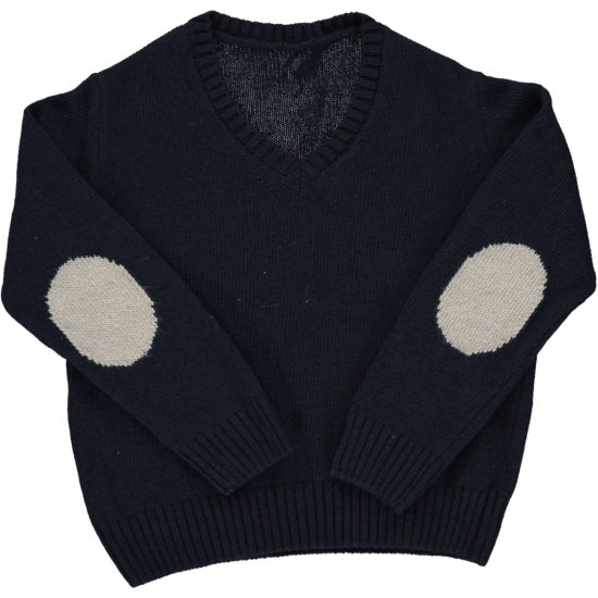 <img class='new_mark_img1' src='https://img.shop-pro.jp/img/new/icons14.gif' style='border:none;display:inline;margin:0px;padding:0px;width:auto;' />Amaia Kids - Paul jumper- Navy アマイアキッズ - セーター