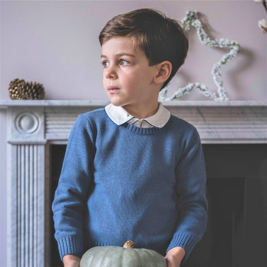 <img class='new_mark_img1' src='https://img.shop-pro.jp/img/new/icons20.gif' style='border:none;display:inline;margin:0px;padding:0px;width:auto;' />【30%OFF】Amaia Kids - Paul jumper- Blue アマイアキッズ - セーター