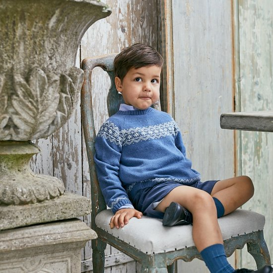 <img class='new_mark_img1' src='https://img.shop-pro.jp/img/new/icons20.gif' style='border:none;display:inline;margin:0px;padding:0px;width:auto;' />【30%OFF】Amaia Kids - Persnip jumper- Blue アマイアキッズ - セーター