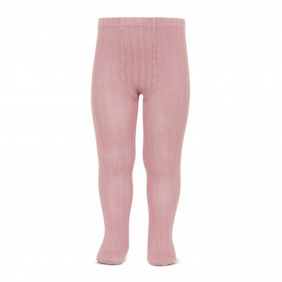 Amaia Kids - Ribbed tights - Dusty Pink アマイアキッズ - タイツ