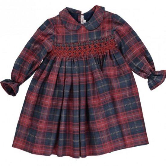 Amaia Kids - Jujube dress - アマイアキッズ - スモッキング刺繍ワンピース