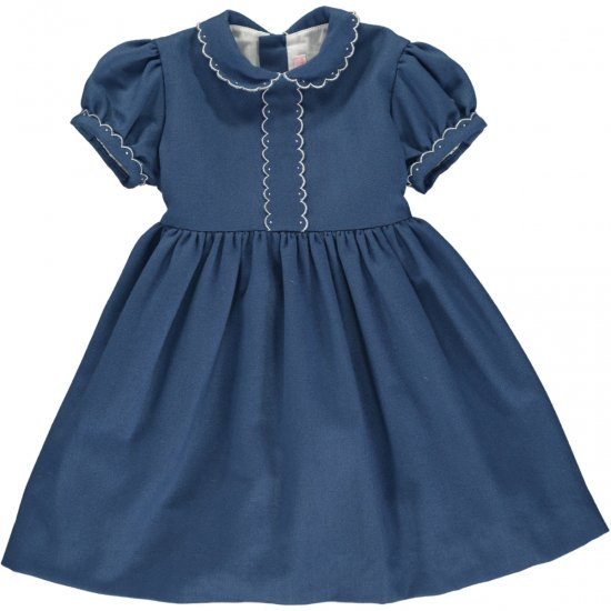 <img class='new_mark_img1' src='https://img.shop-pro.jp/img/new/icons58.gif' style='border:none;display:inline;margin:0px;padding:0px;width:auto;' />Amaia Kids - Eleonore dress - Blue アマイアキッズ - ワンピース