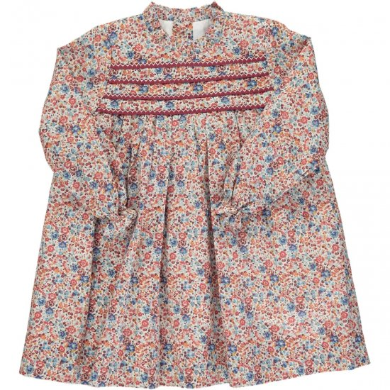 <img class='new_mark_img1' src='https://img.shop-pro.jp/img/new/icons58.gif' style='border:none;display:inline;margin:0px;padding:0px;width:auto;' />Amaia Kids - Villa dress - Liberty red アマイアキッズ - リバティプリントワンピース