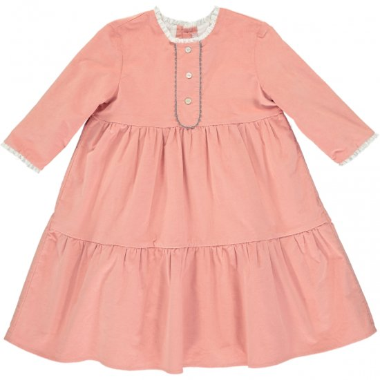 <img class='new_mark_img1' src='https://img.shop-pro.jp/img/new/icons14.gif' style='border:none;display:inline;margin:0px;padding:0px;width:auto;' />Amaia Kids - Mathilde dress - Pink アマイアキッズ - フリルワンピース