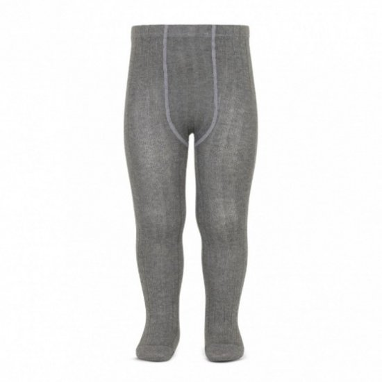 Amaia Kids - Ribbed tights - Light Grey アマイアキッズ - タイツ