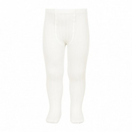 <img class='new_mark_img1' src='https://img.shop-pro.jp/img/new/icons14.gif' style='border:none;display:inline;margin:0px;padding:0px;width:auto;' />Amaia Kids - Ribbed tights - Cream アマイアキッズ - タイツ