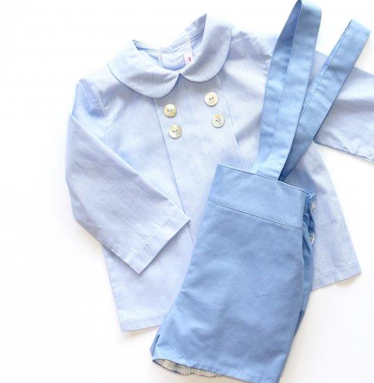 Amaia Kids - Thomas shirt - Blue アマイアキッズ - 長袖シャツ